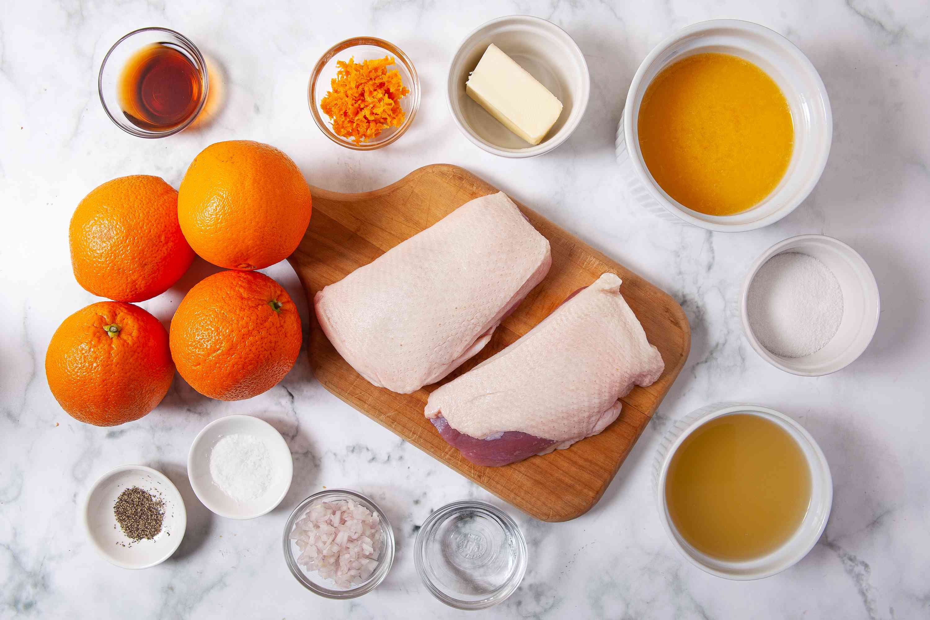 Easy Classic French Duck a l'Orange ingredients
