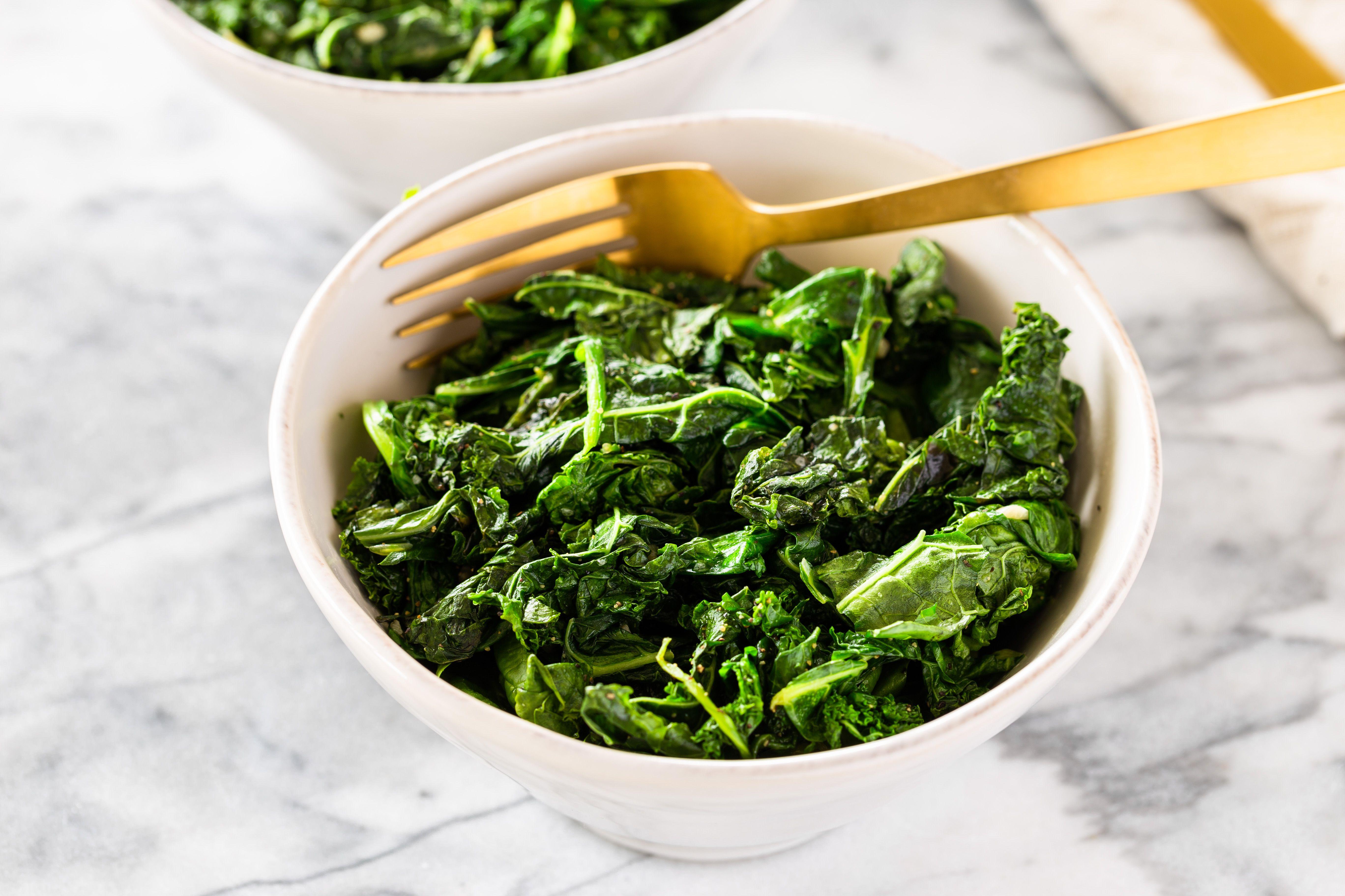 Easy sauteed mixed greens