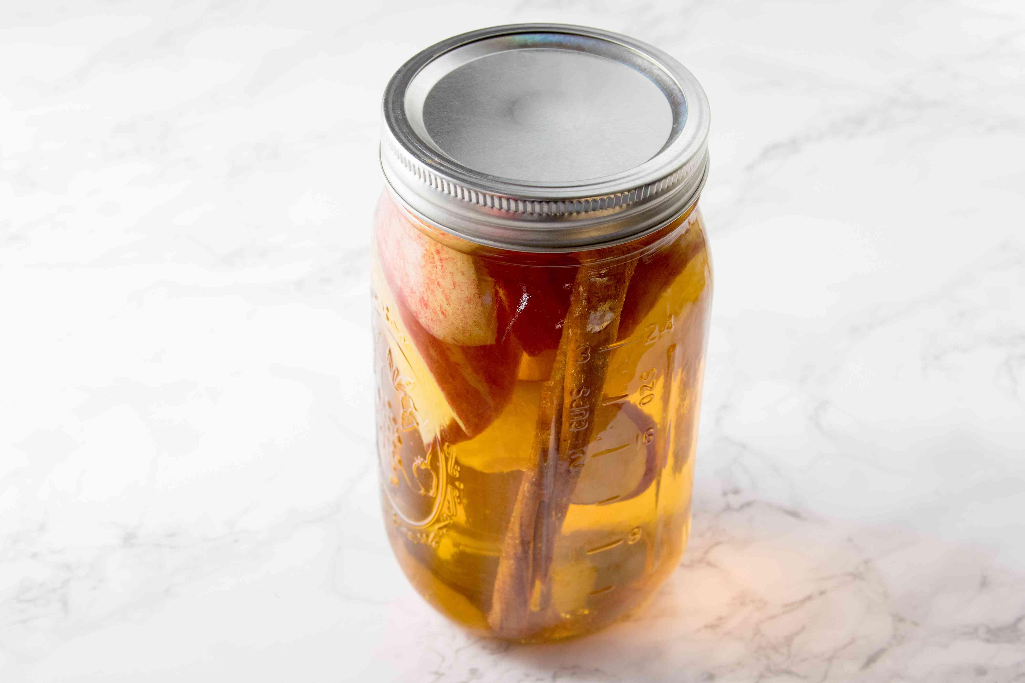 Infusing Apple-Cinnamon Tequila