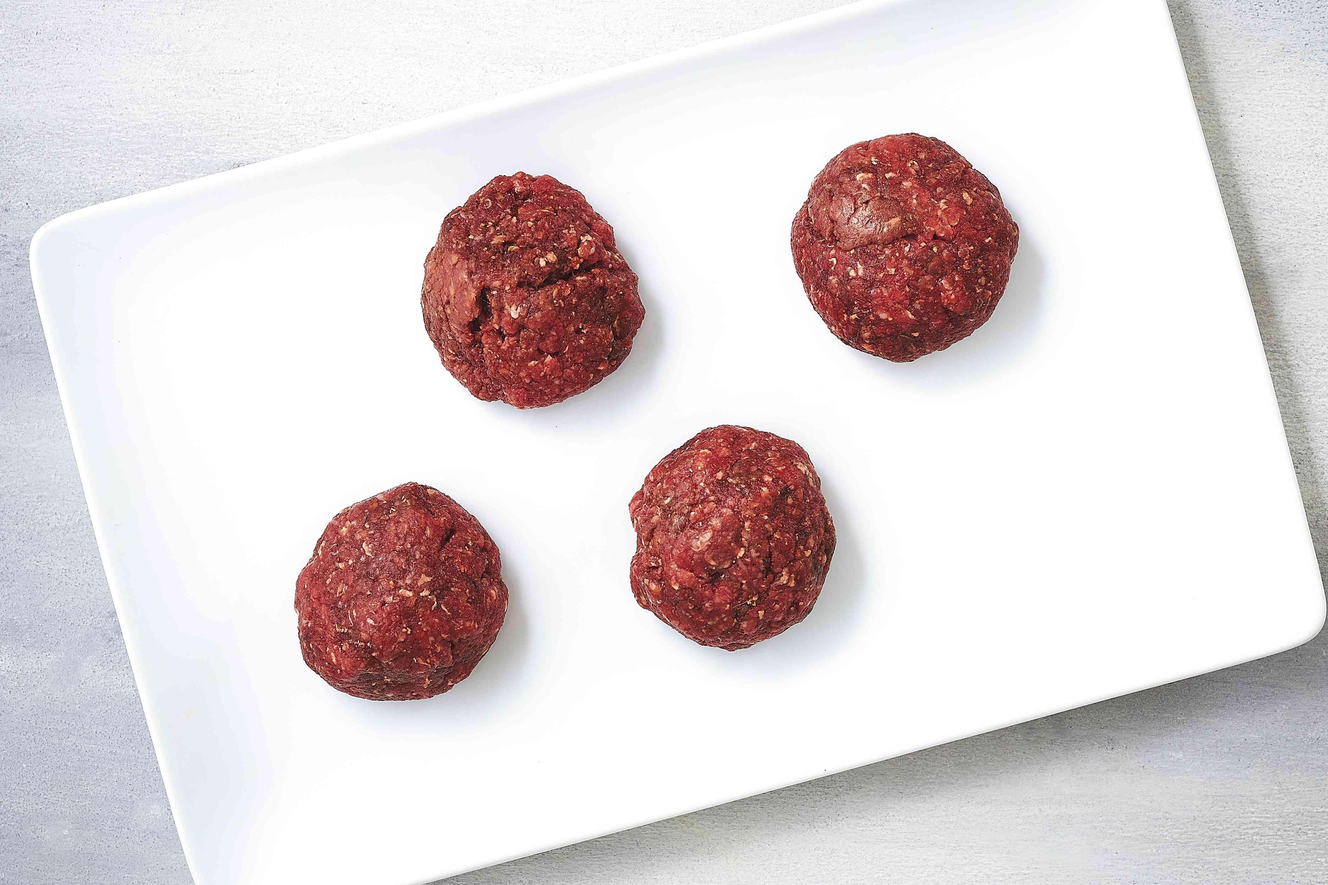 balls of burger meat