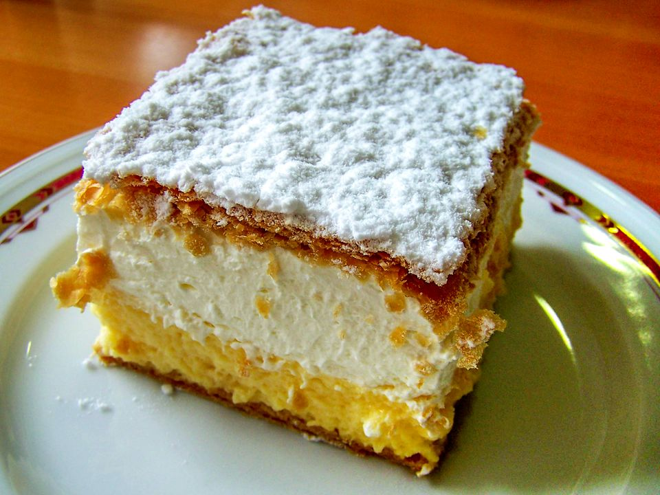 Receta de rebanadas de crema serbia - Krem Pita