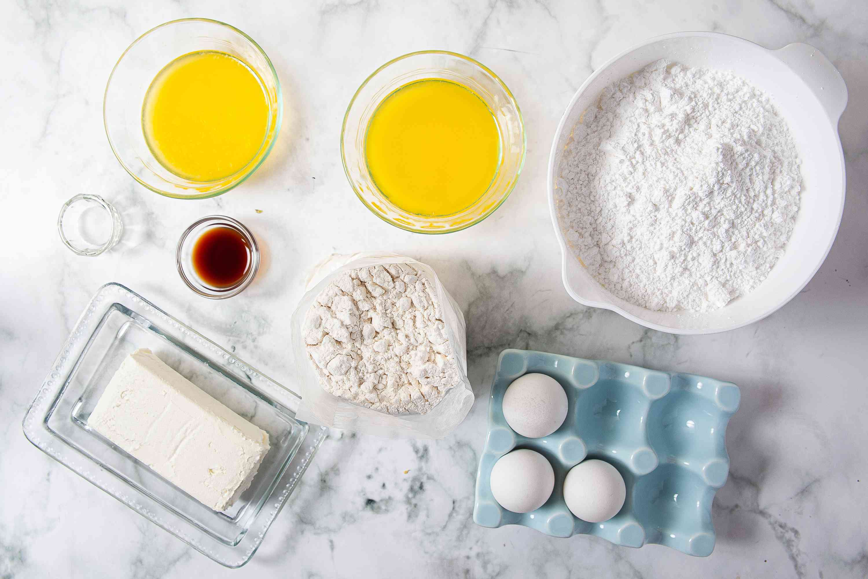 ingredients for Gooey Butter Cake