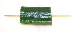 Cucumber spiral garnish