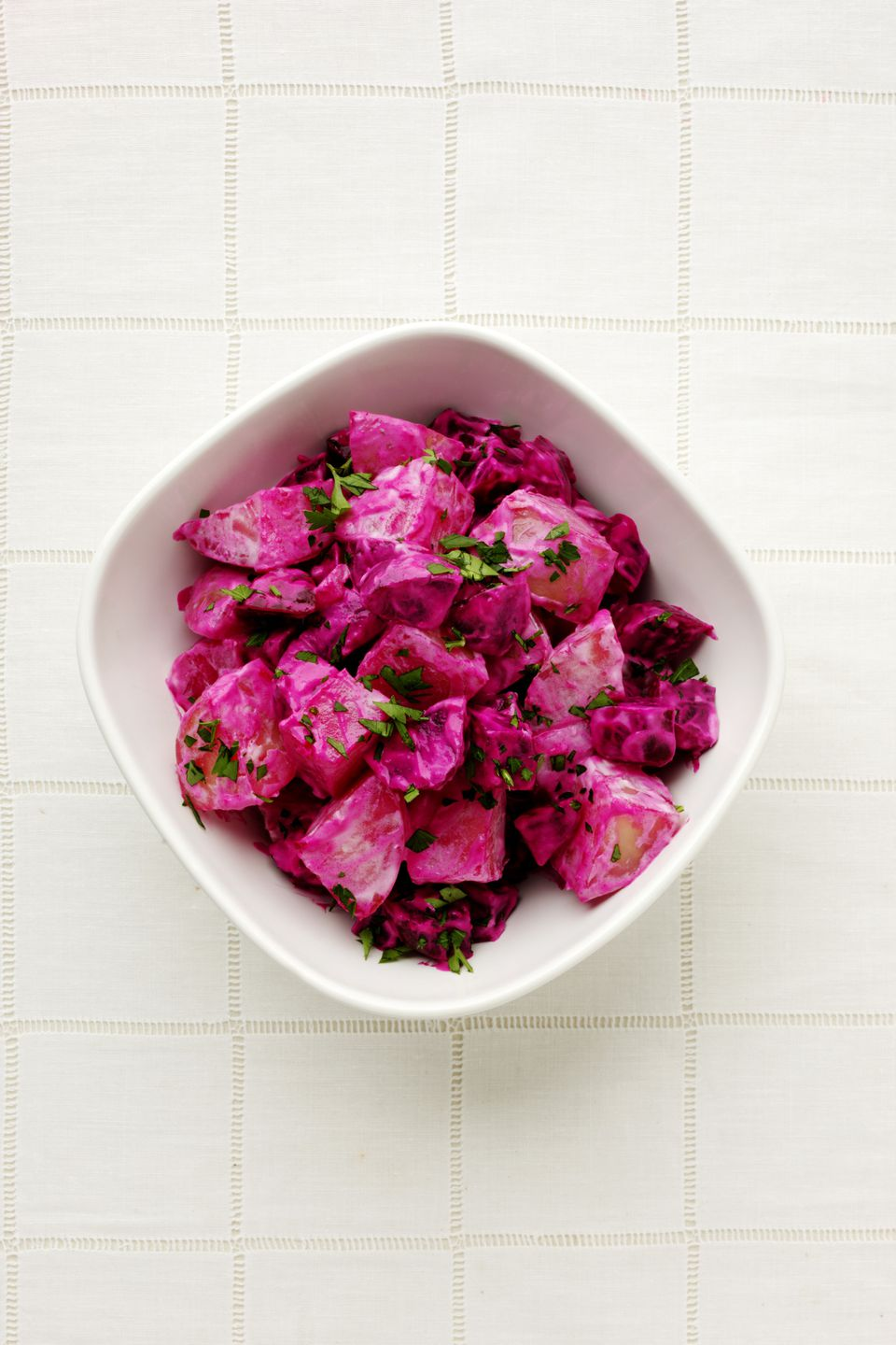 Beetroot and potato salad