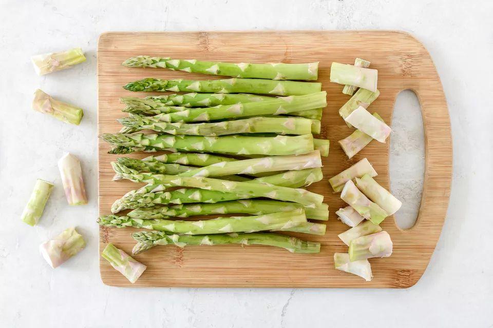 Asparagus trimmings.