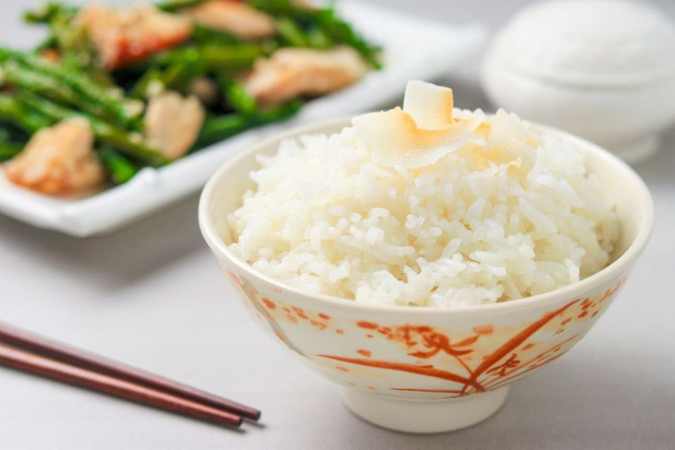 Easy Coconut Rice Made in a Rice Cooker