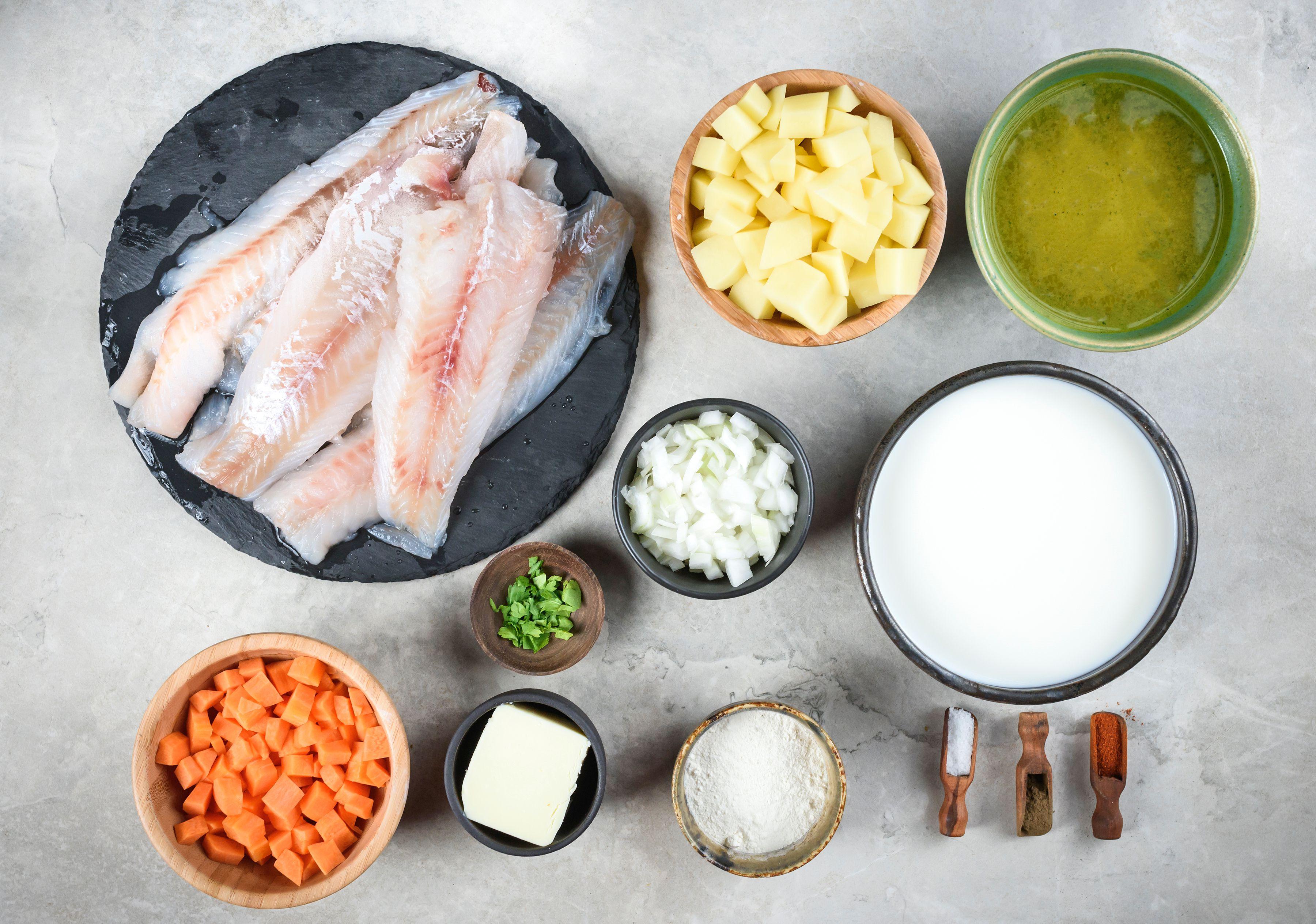 Creamy Fish Chowder Recipe ingredients