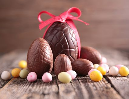 25 most delicious easter dessert recipes solid chocolate easter eggs how to make the perfect easter gift negle Gallery