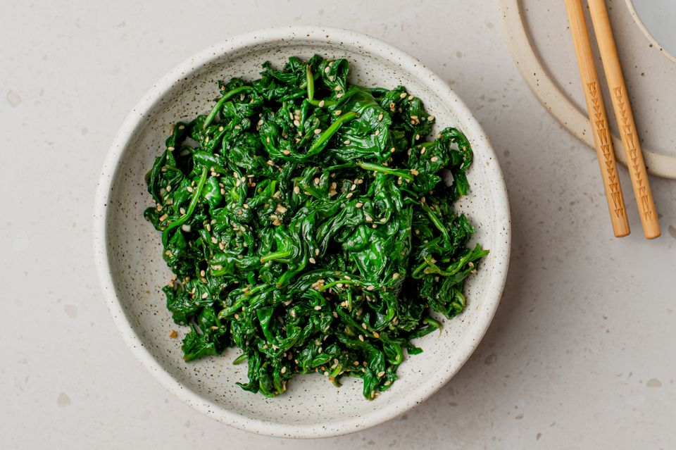 Sigumchi Namul (Korean Seasoned Spinach) Recipe