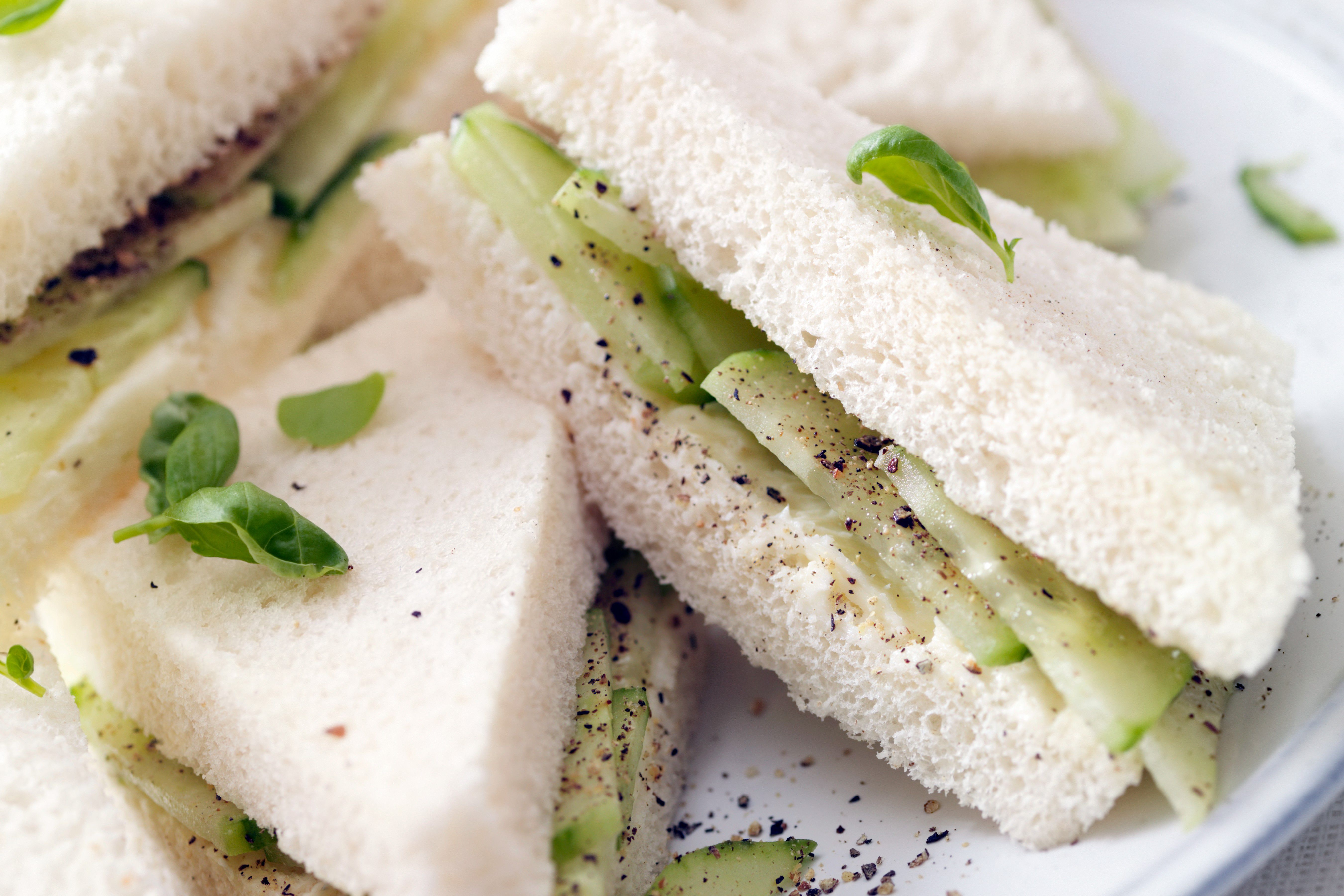 Cooling cucumber and refreshing mint make an easy no-cook recipe for finger sandwiches