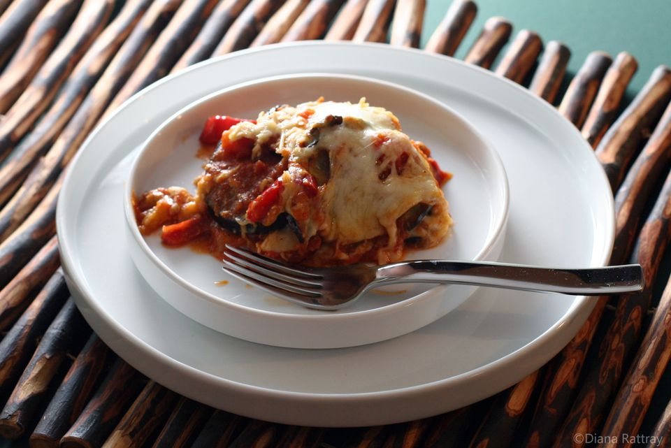 Eggplant Bake With Spaghetti Sauce