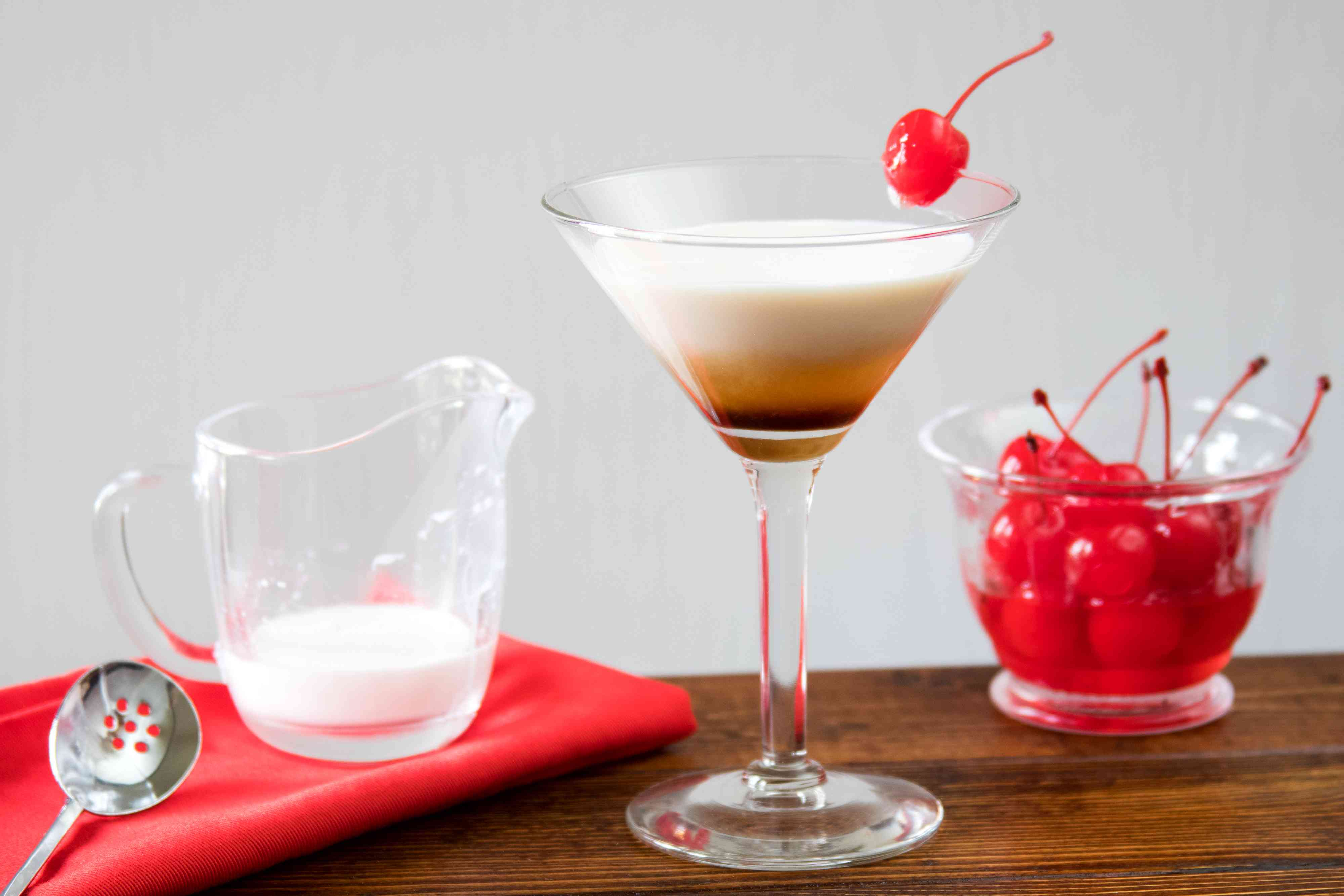 Angel's Tip Cocktail With Dark Creme de Cacao