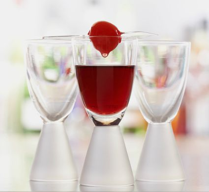 Berry Whipped Shot Drink With Cherry on Top