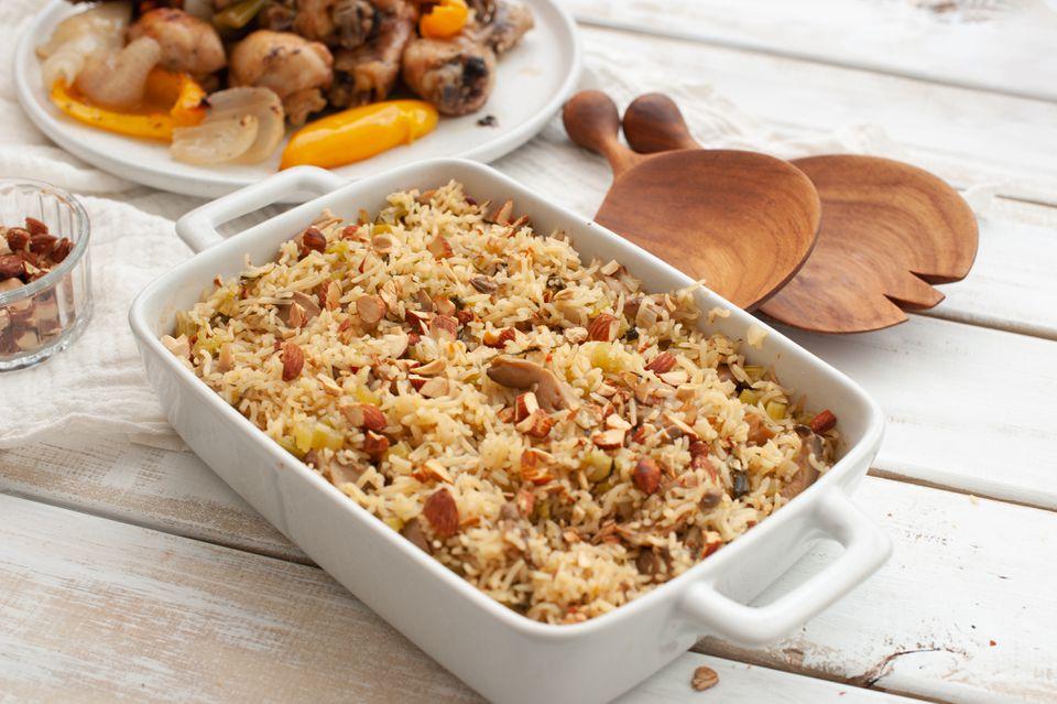 Gluten free vegetarian rice stuffing