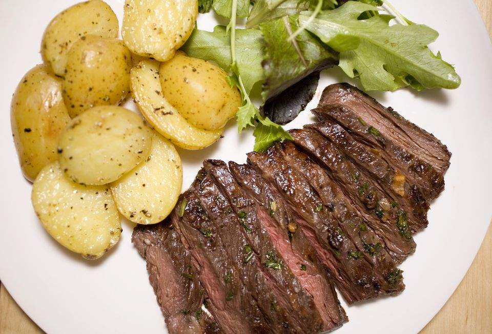 Marinated skirt steak