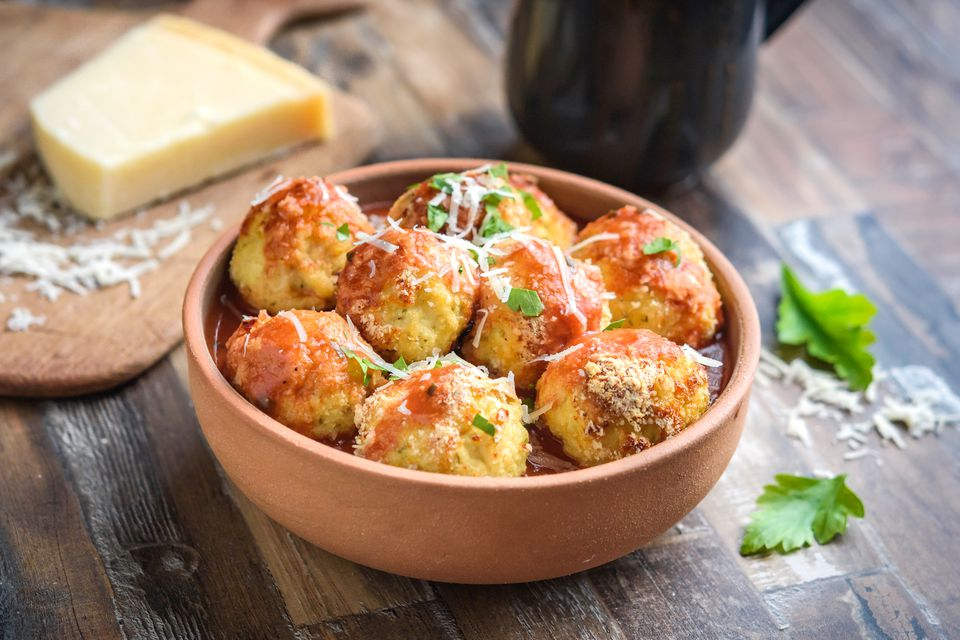 Turkey Meatballs Baked With Parmesan Cheese Recipe