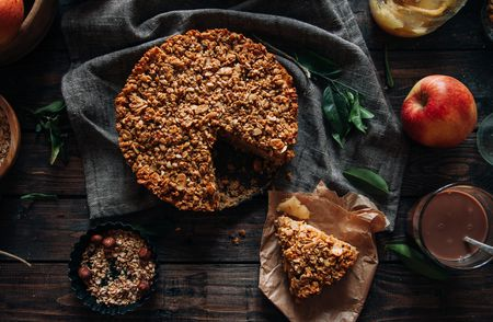 Easy Streusel Cake Recipe Made With Apple Pie Filling