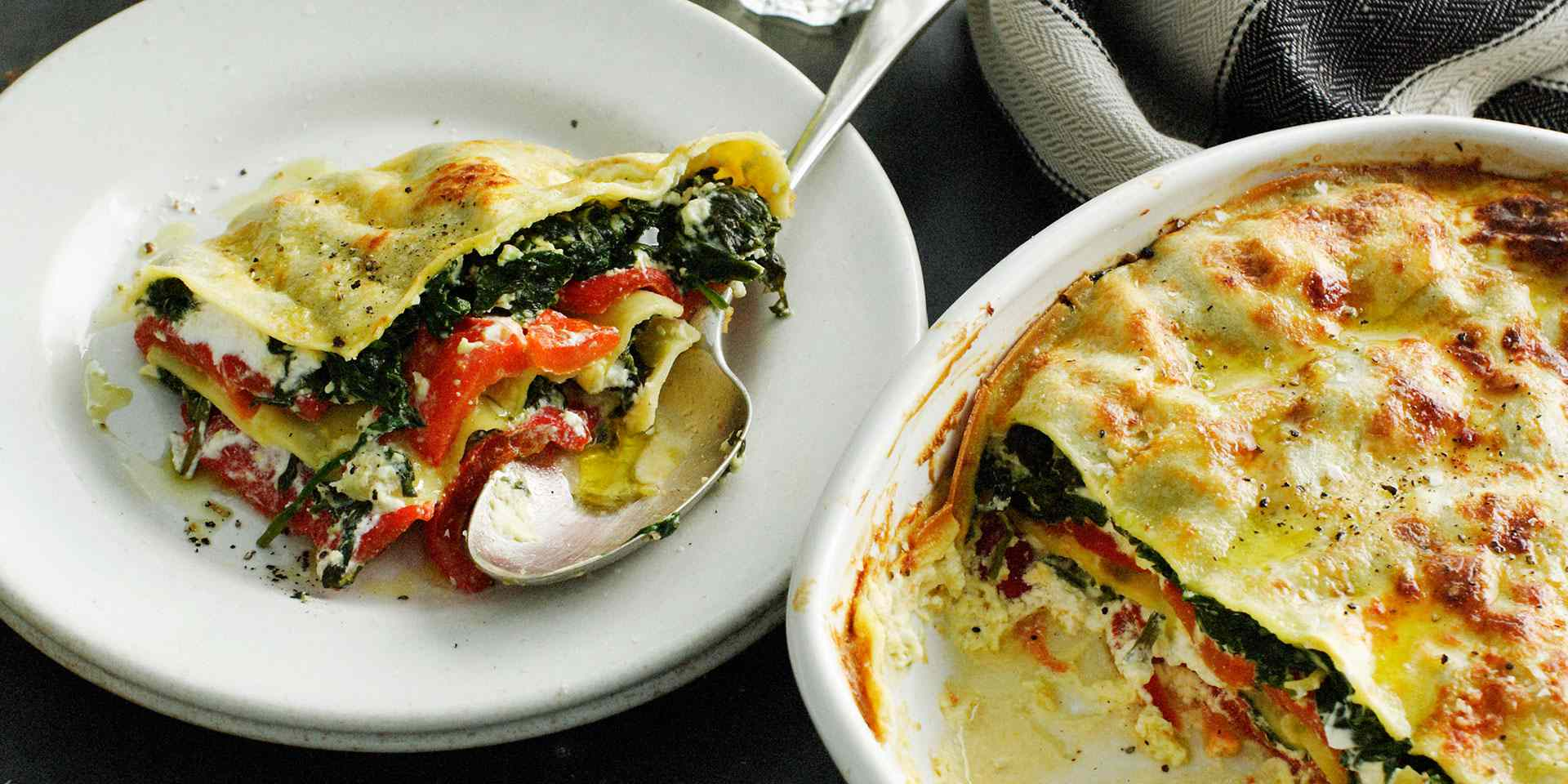 White lasagna full of veggies