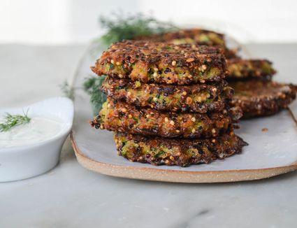 Zucchini Patties With Quinoa