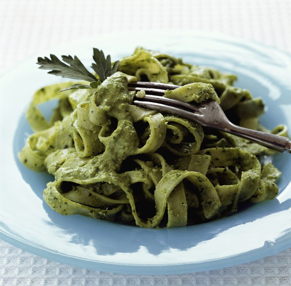 Tallarines Verdes - Pasta and Pesto