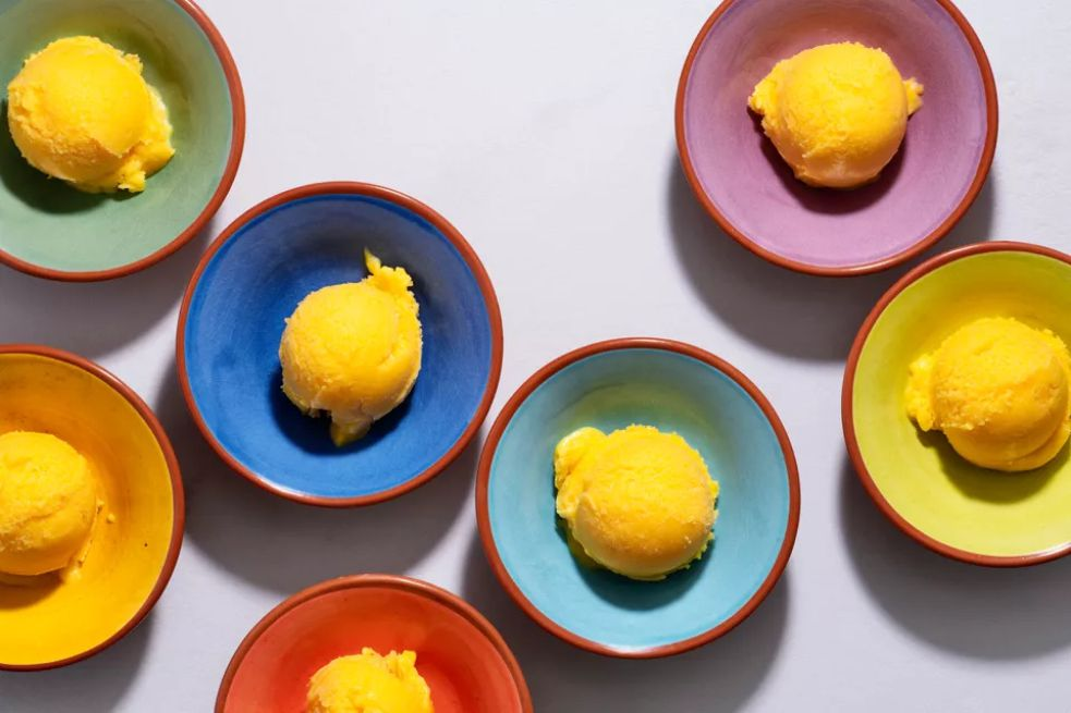No-Churn Mango Ice Cream