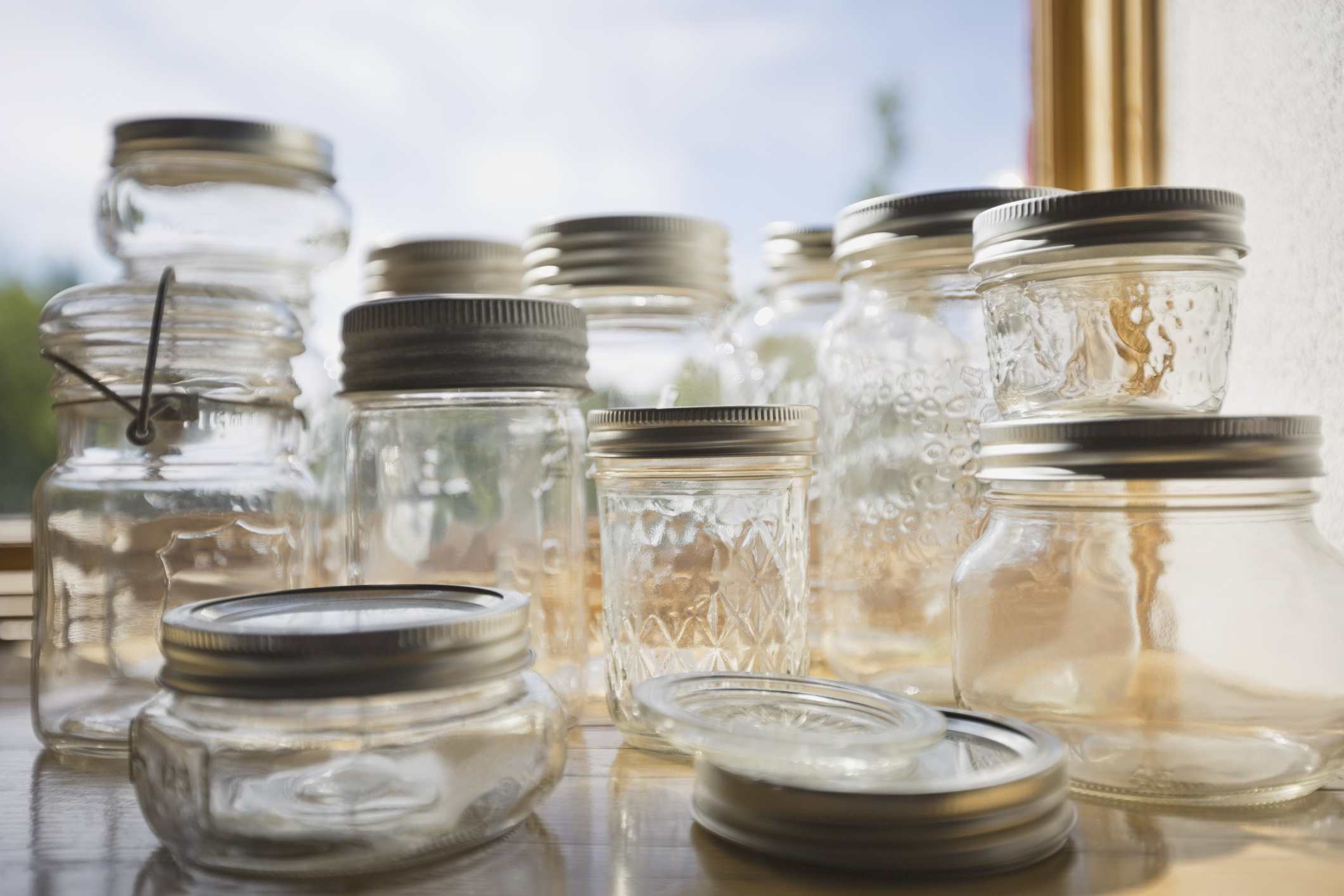 Clean canning jars