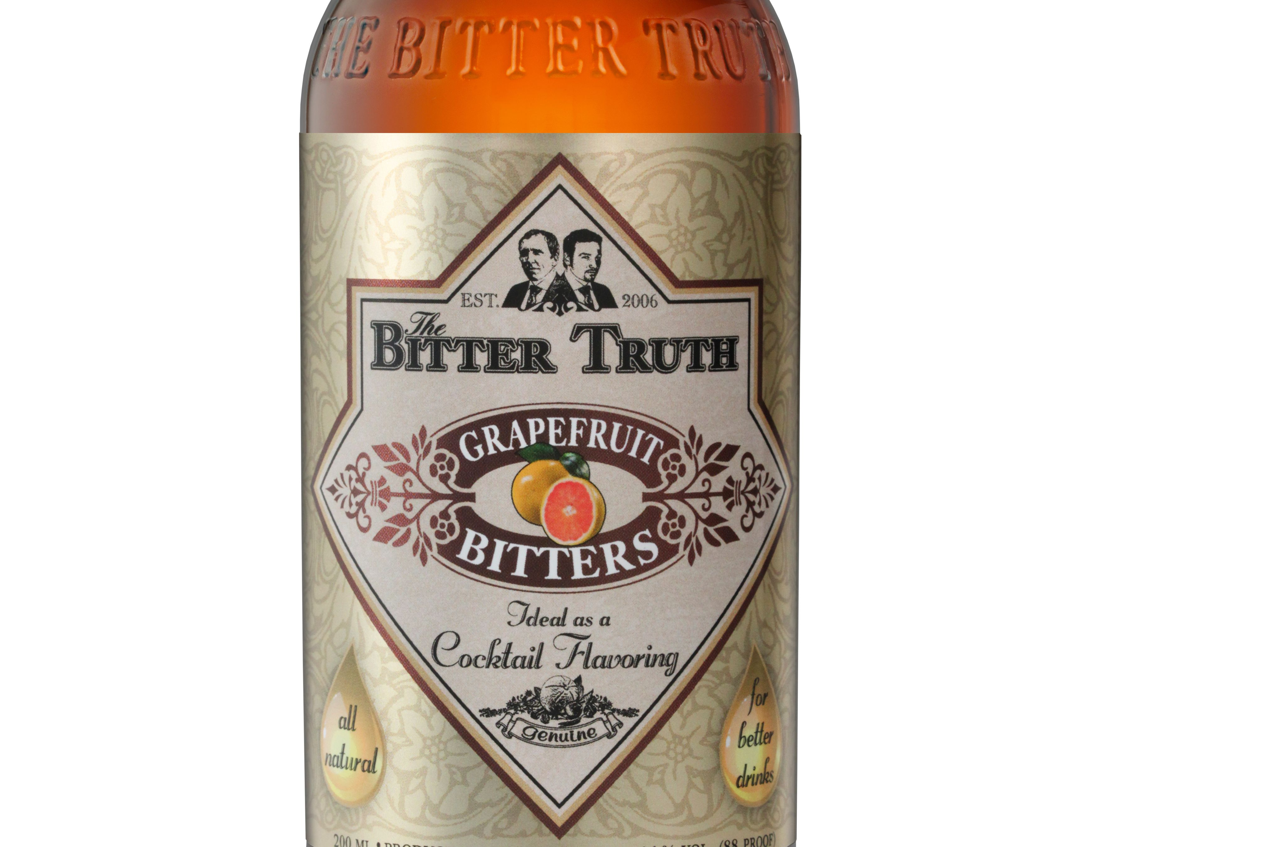 A bottle of The Bitter Truth Grapefruit Bitters