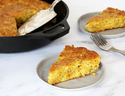 Skillet Mexican Cornbread Wedges