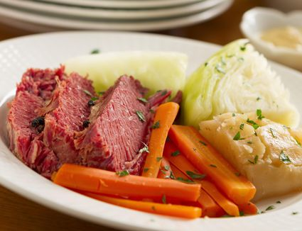 Corned Beef, cabbage and carrots