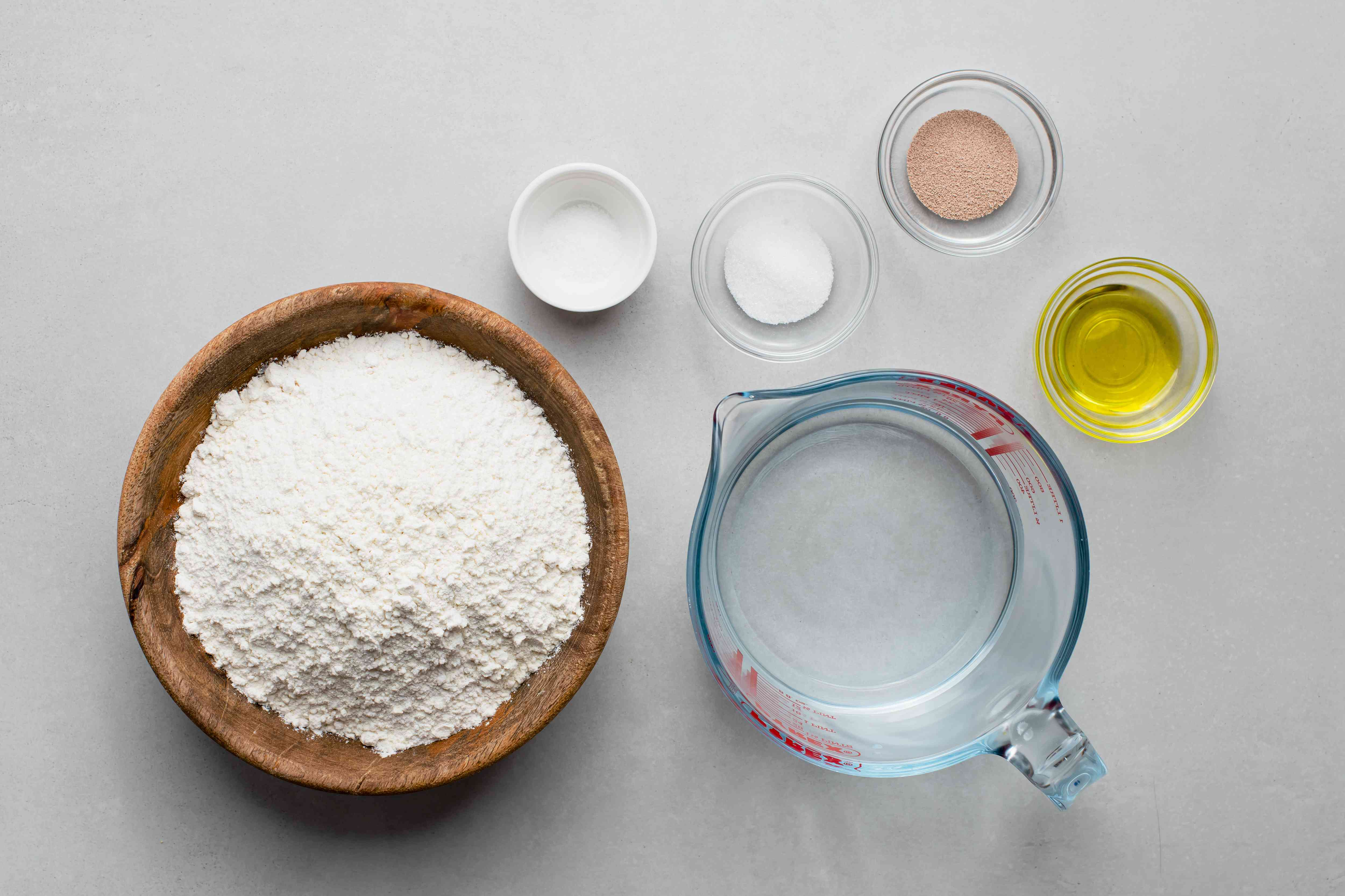 Quick and Easy Homemade Pita Bread ingredients