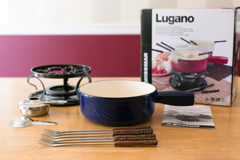 Swissmar Lugano Cast Iron Fondue Set