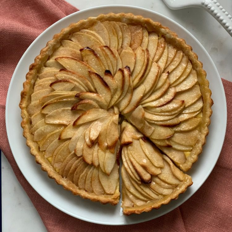 French Apple Tart Recipe With Pastry Cream Tester Image