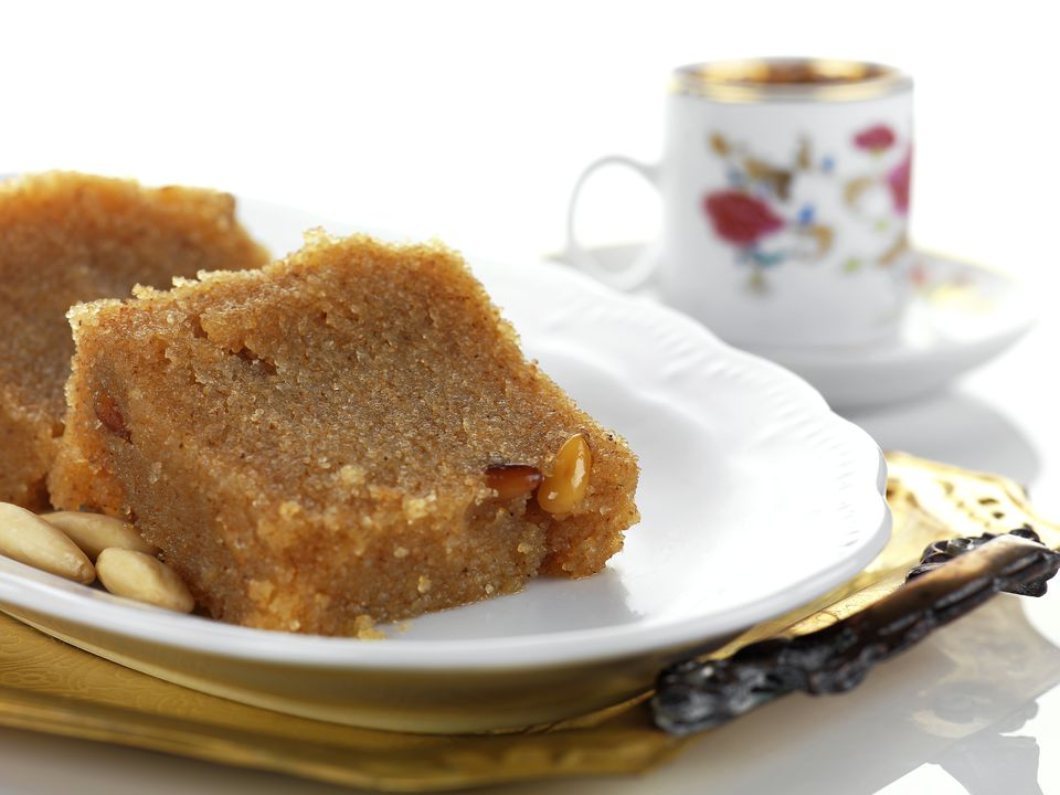 Greece, Plate of halva and coffee