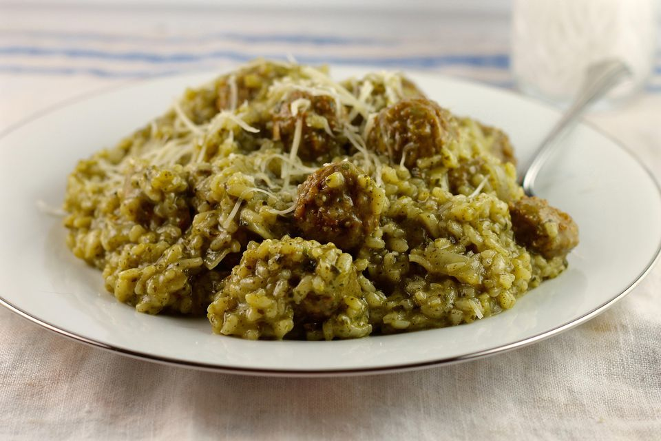 Image Result For Image Result For Pesto Meatball Risotto Is Delicious And Satisfying