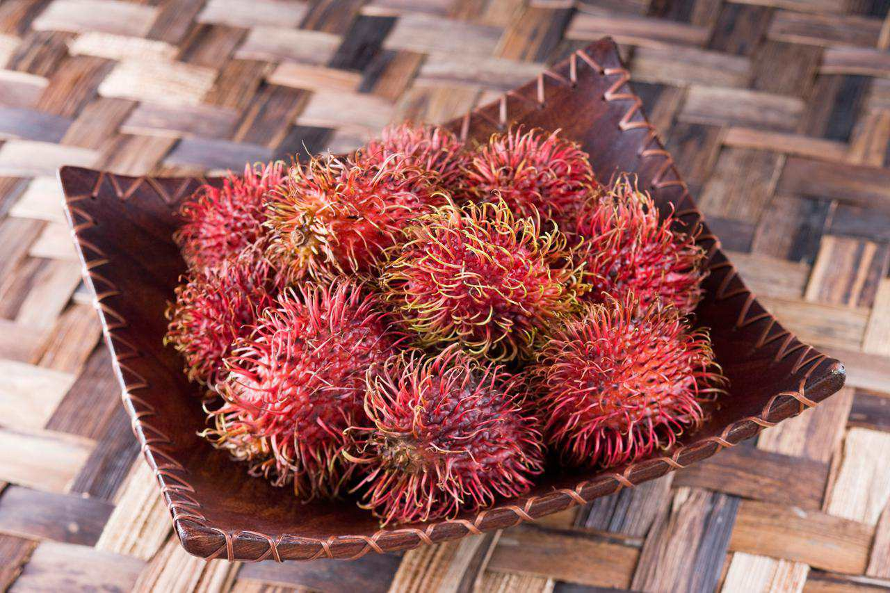 Rambutans in a pile
