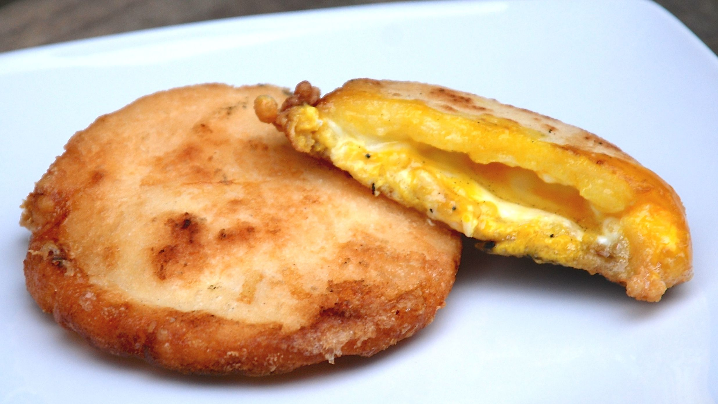Arepas Con Huevo Breakfast Sandwich Recipe