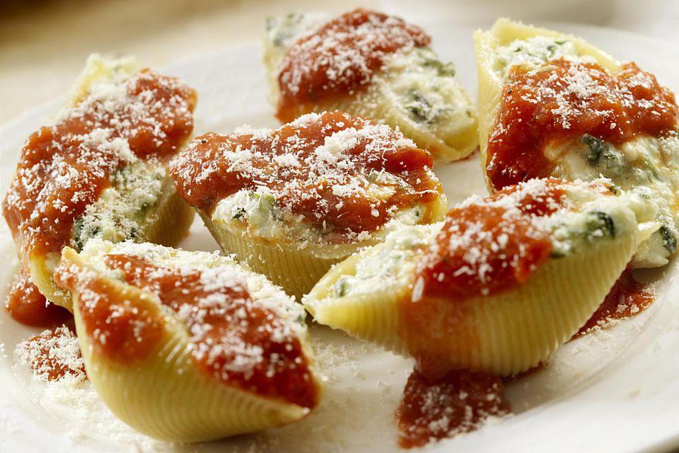 veggie pasta shells