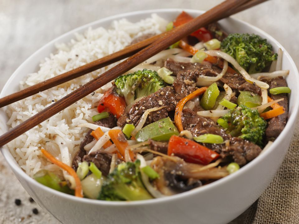 Chinese style beef and broccoli stir-fry