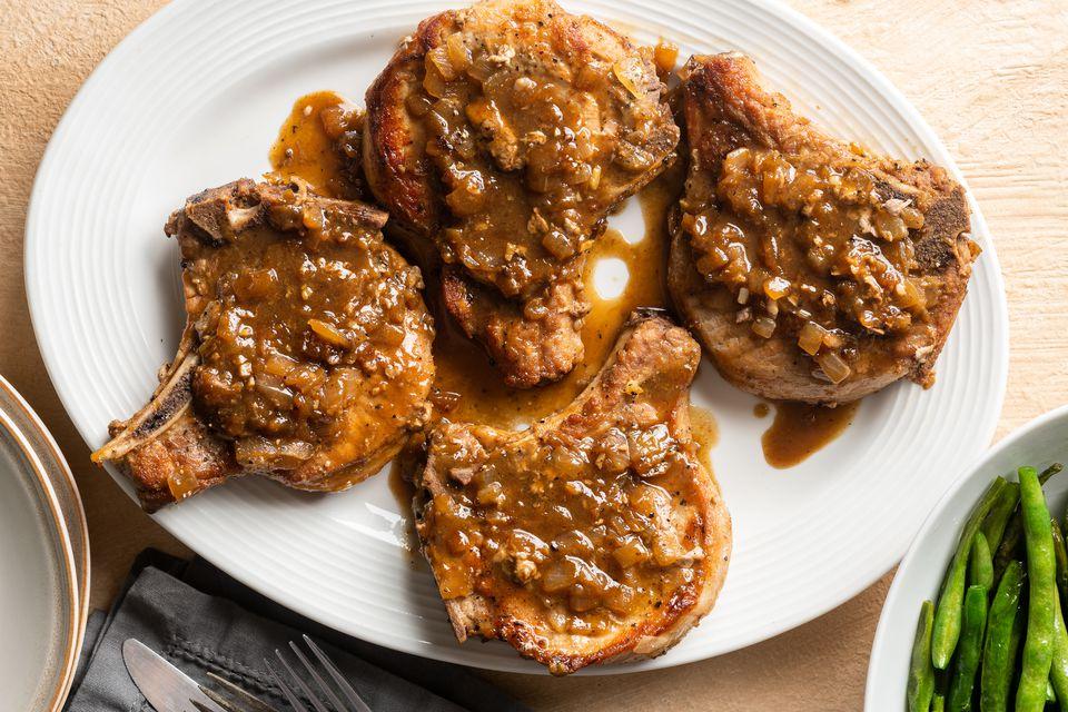Simple Braised Pork Chops