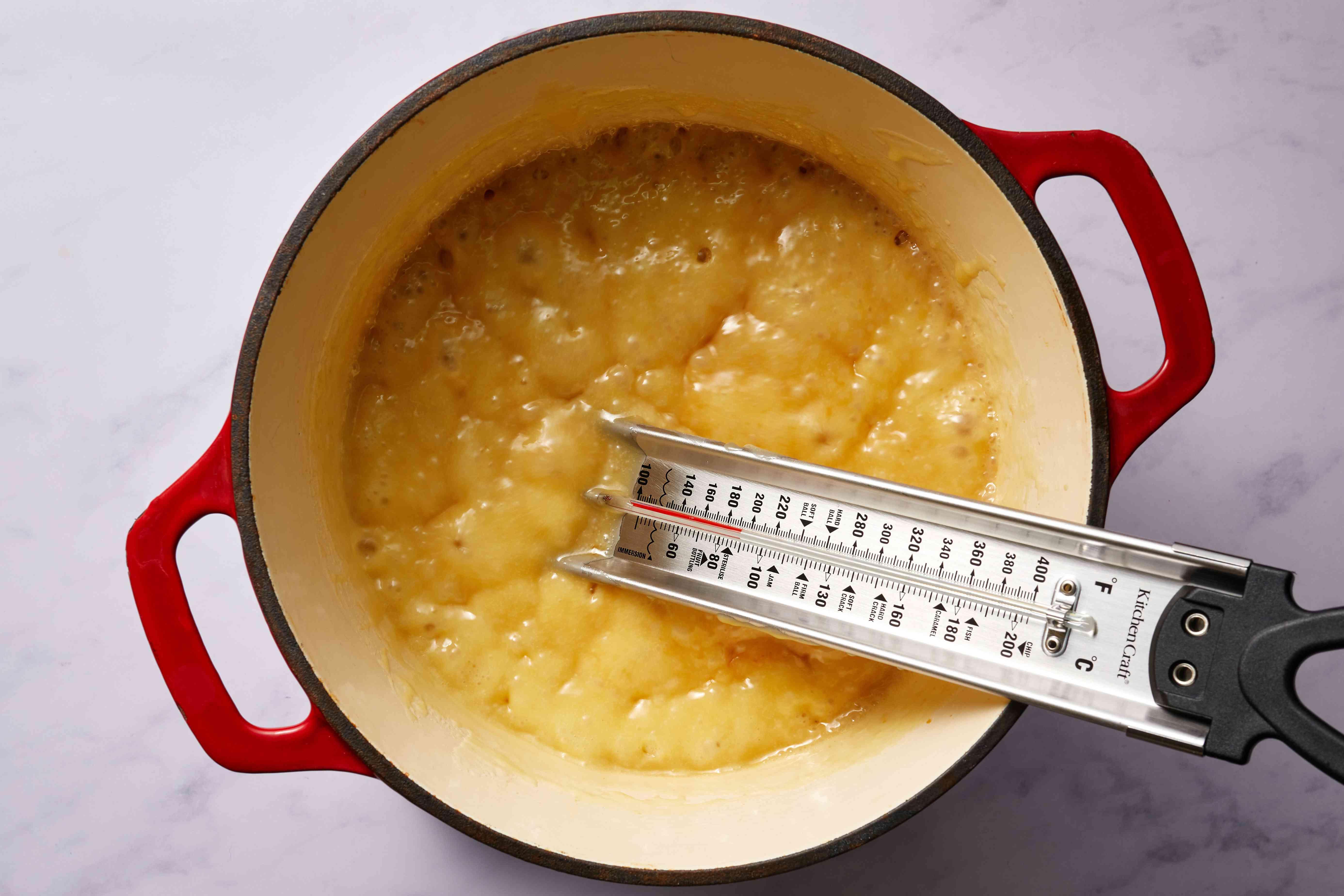 butter mixture cooking in a saucepan