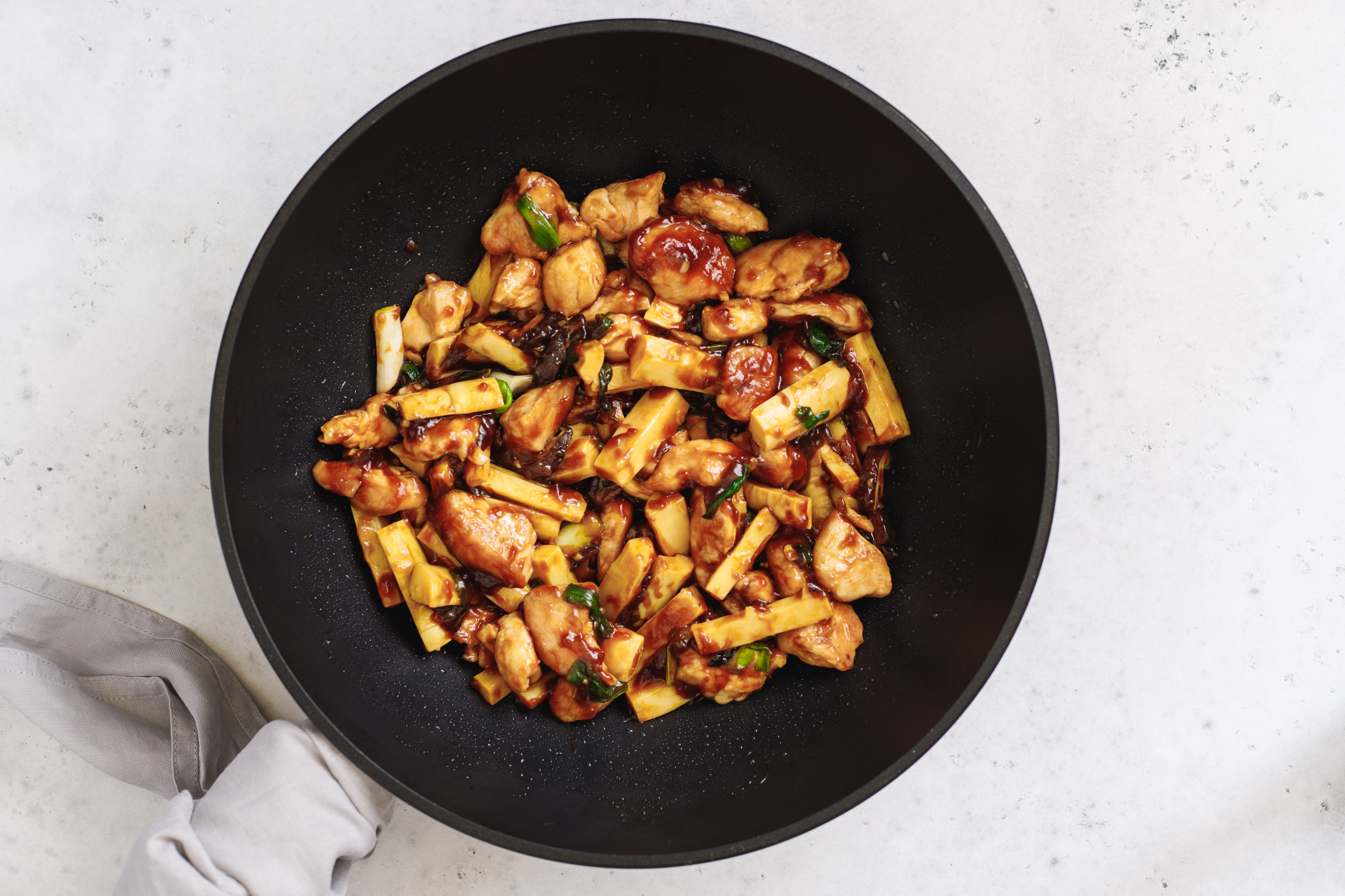 Chicken in oyster sauce finished recipe