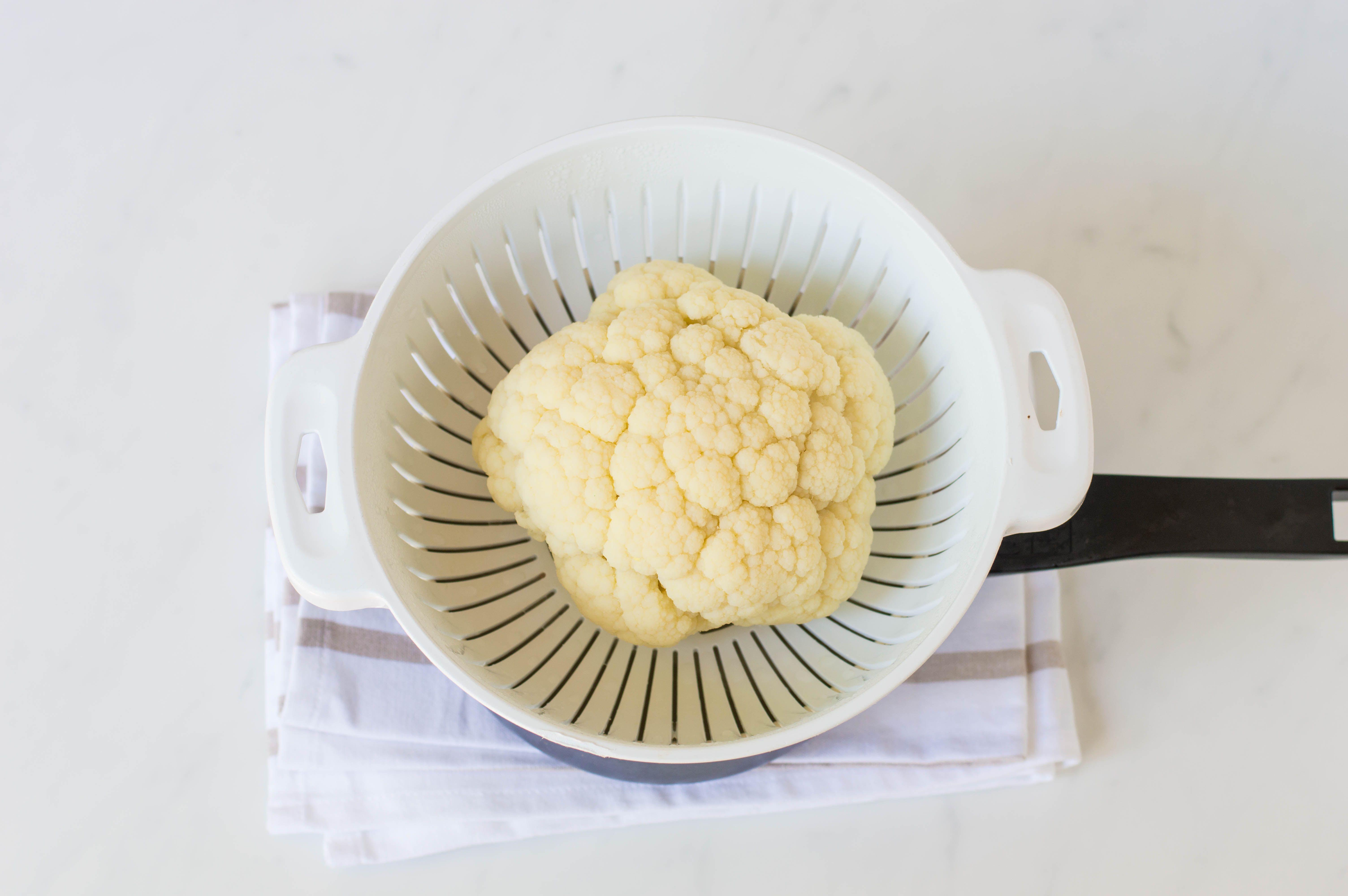 Steaming cauliflower