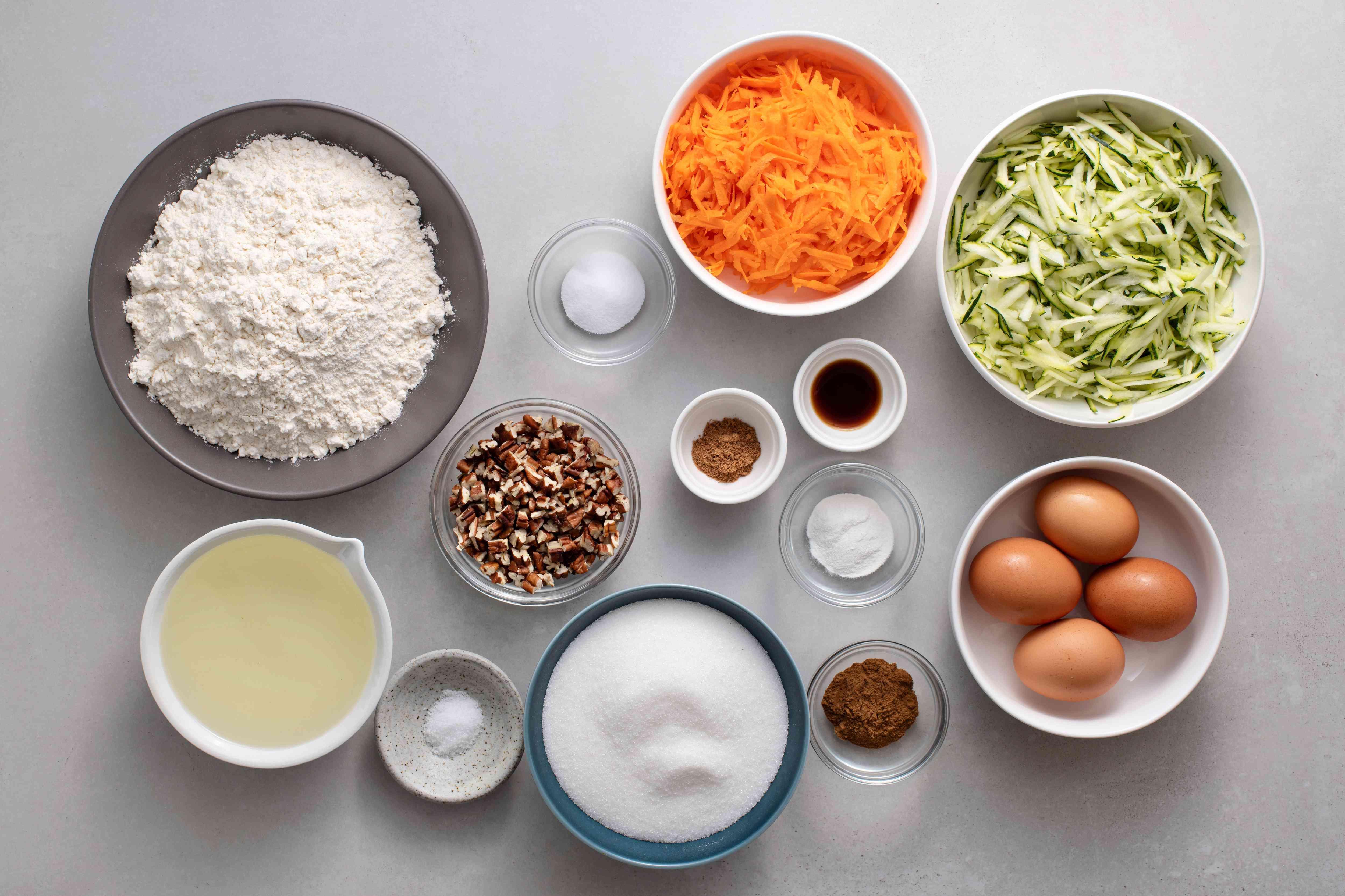Zucchini Carrot Cake ingredients
