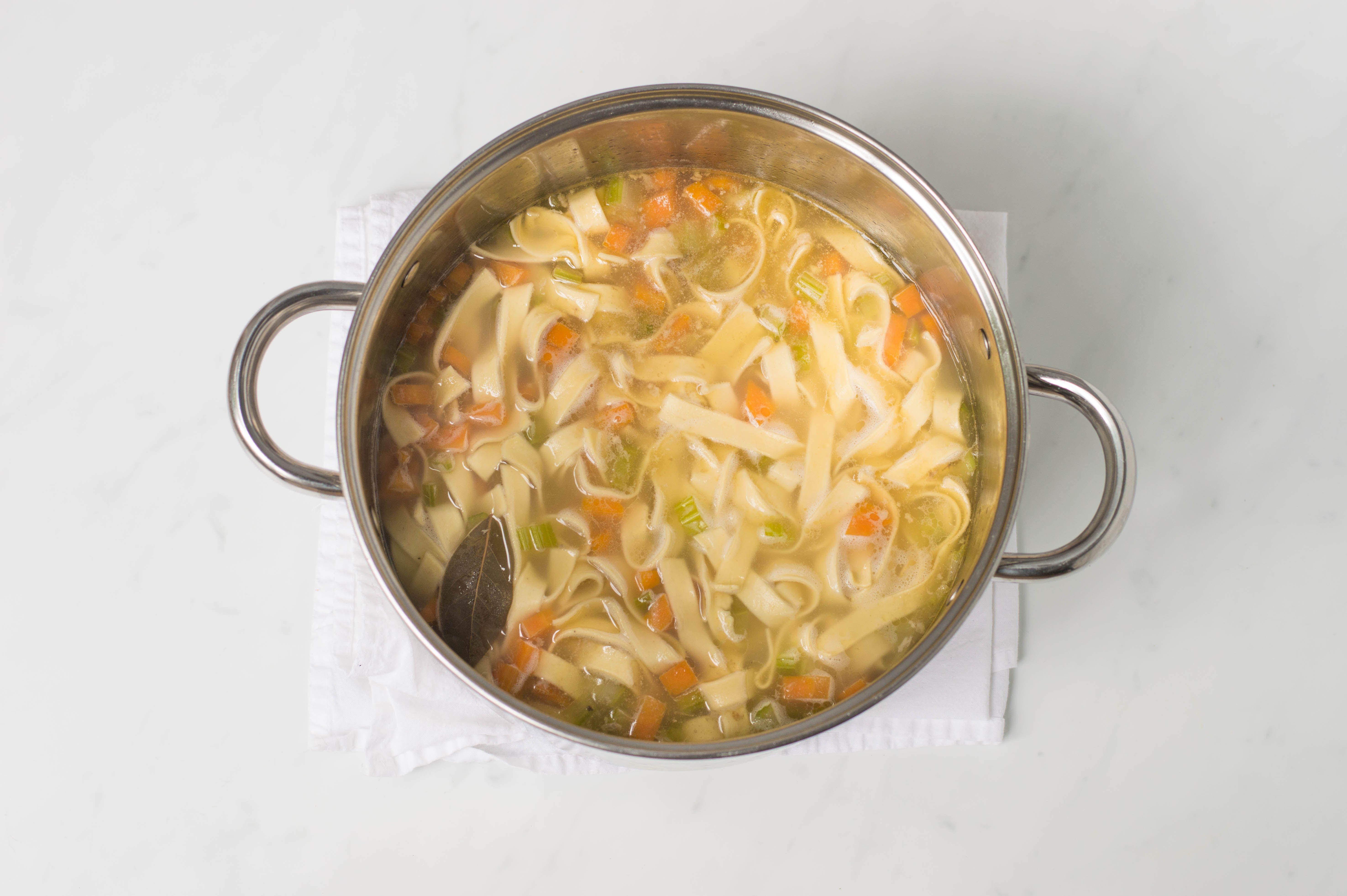 add the noodles, and cook until al dente