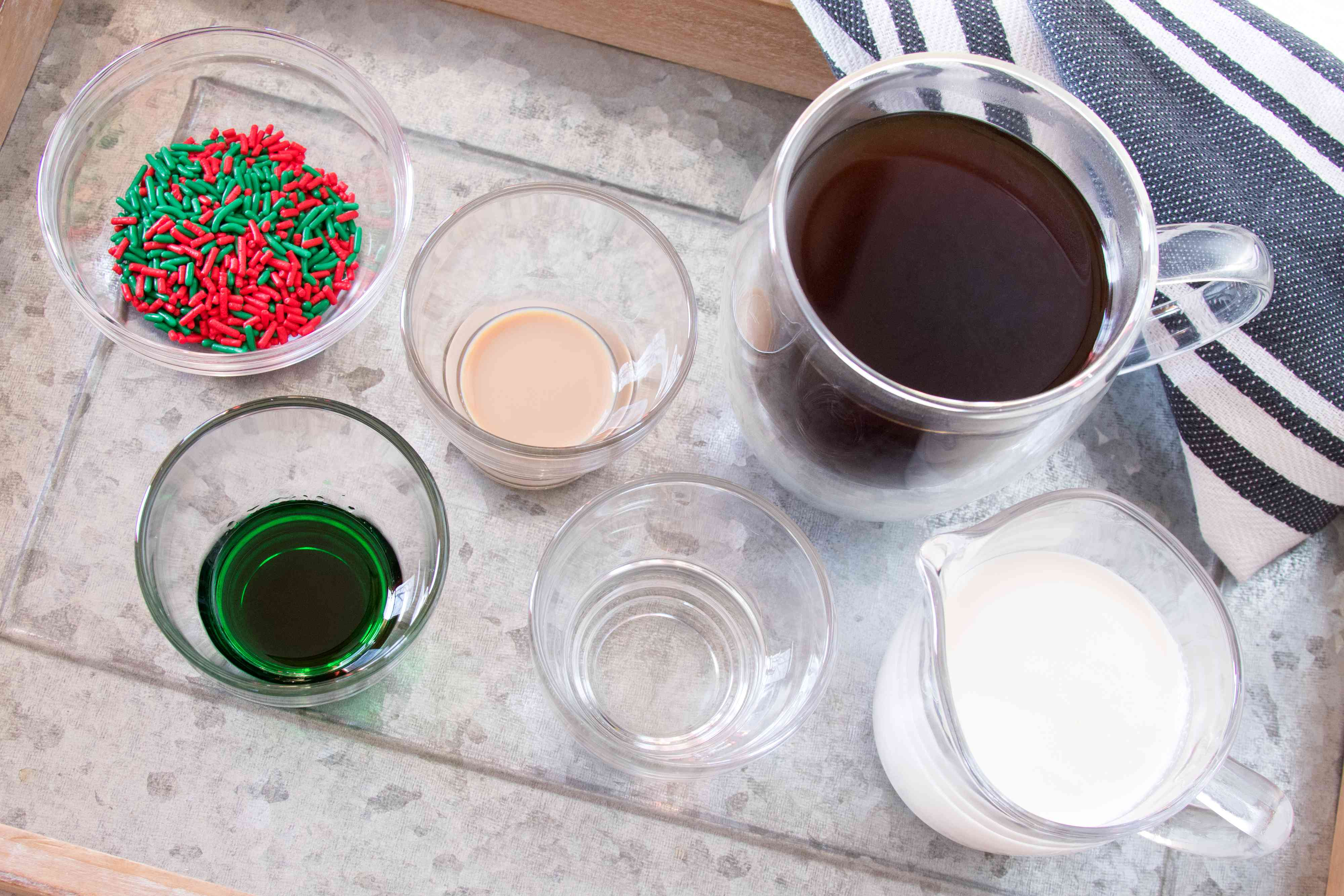 Ingredients for spiked Christmas coffee