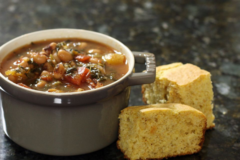 black-eyed peas and greens soup