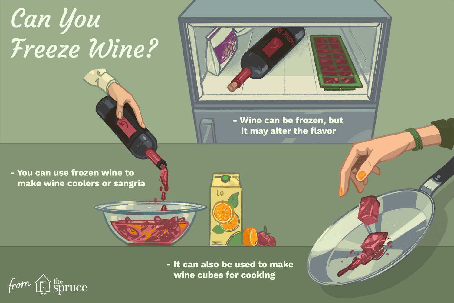 illustration that looks at how frozen wine can be used