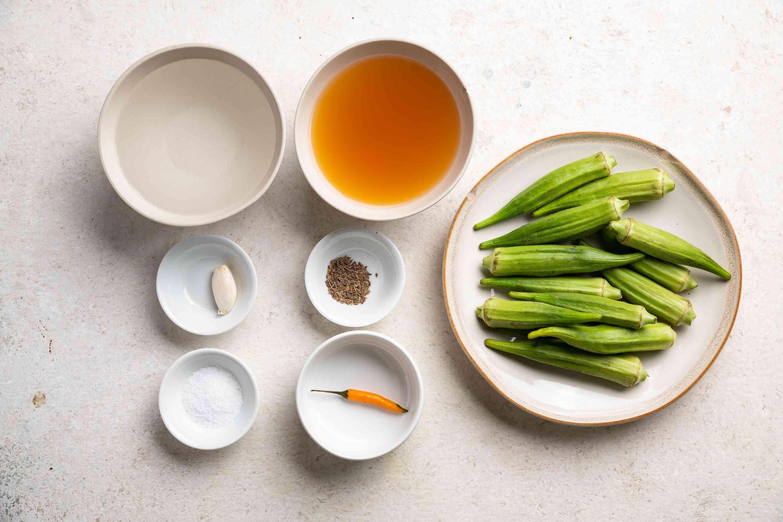 Pickled Okra ingredients