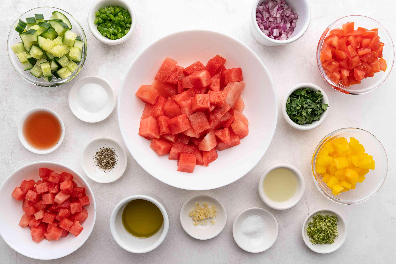 Watermelon Gazpacho Soup ingredients