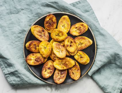 Fried ripe plantains on a plate